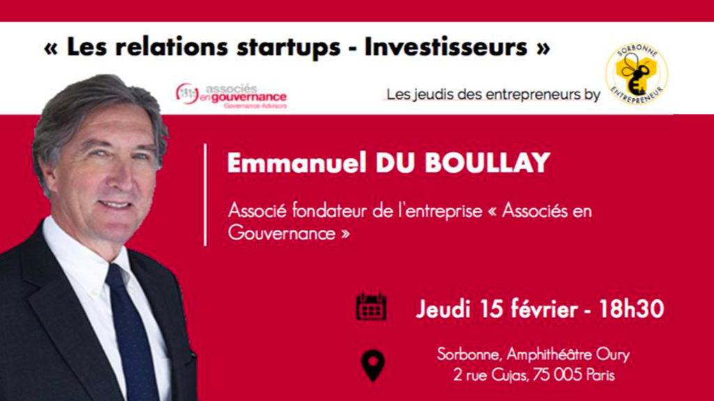 15 february 2018 | Les relations startups-investisseurs
